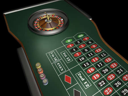 Roulette - 3d render Stock Photo