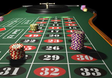 roulette: Roulette - 3d rendono