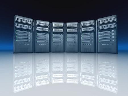 Servers - 3d render