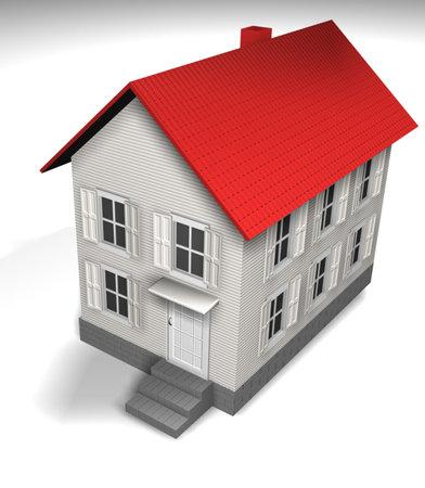 refinance: White house - 3d render Stock Photo