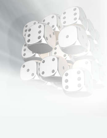 Conceptual arrangement o dices - rendered in 3d photo