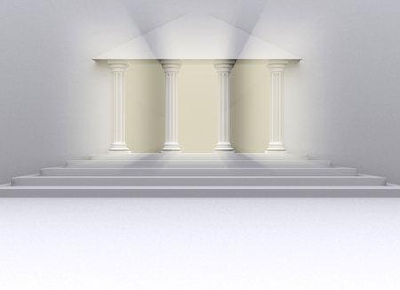 Conceptual romnan colonnes repr�sentant les b�timents universitaires - 3d rendre