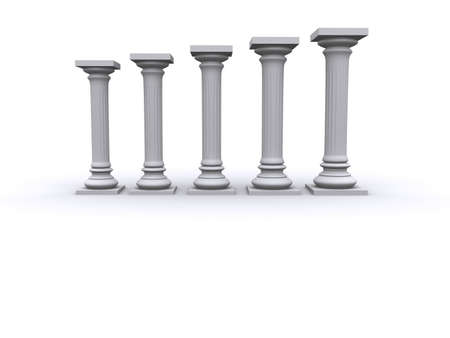 sustain: Conceptual ionic-style Greek architecture - 3d render Stock Photo