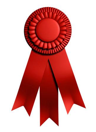 accomplishing: 1st place graduation ribbon - 3d render