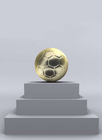 recompense: A conceptual soccer golden ball - 3d render