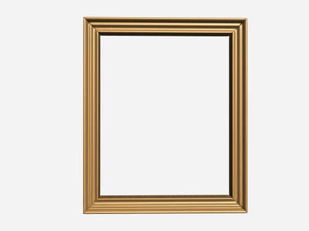 casement: An empty canvas frame isolated on white background - 3d render Stock Photo
