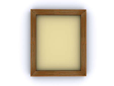 casement: An empty canvas frame on white background - 3d render