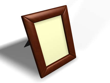casement: An empty photo frame on white background - 3d render Stock Photo