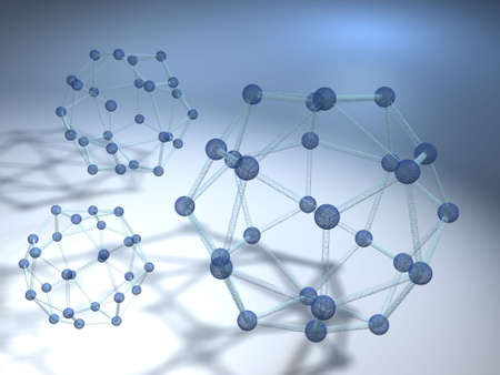 Conceptual model of three molecular structure - rendered in 3d Stock Photo - 1997306