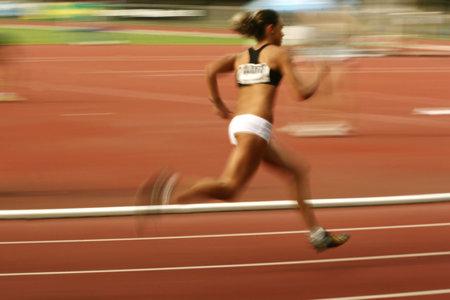 runing: Runing women - motion effect Stock Photo