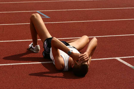 agotado: Atleta despu�s de terminar