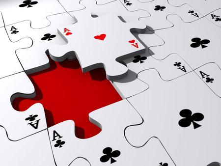 Conceptuel as puzzle avec des pi�ces de puzzle sur