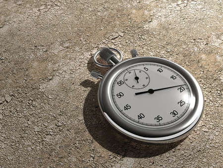 exactness: Close up of a chronometer on ground - rendered in 3d Stock Photo