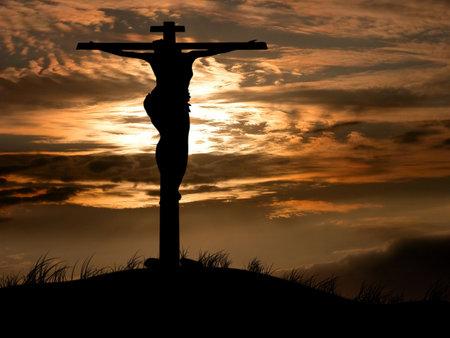jesus clouds: Jesus on cross