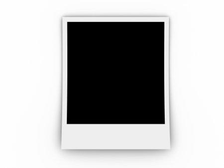 A polaroid frame on white background - 3d render