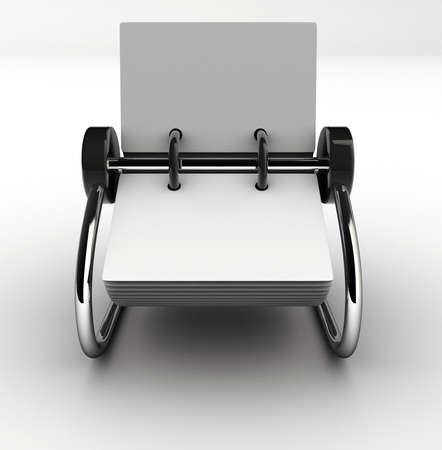 addresses: A blank white rolodex - rendered in 3d