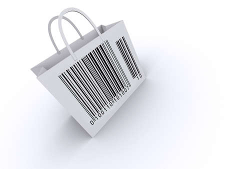 scan paper: Shopping bag with barcode