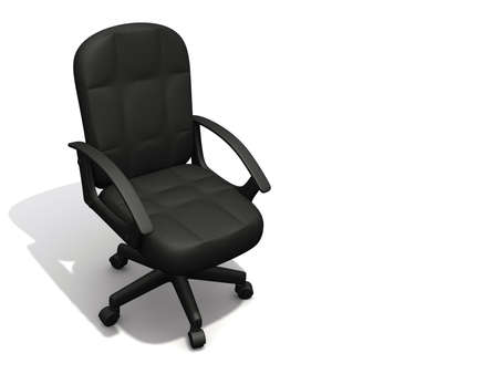 An empty office chair on white - 3d render Stock Photo - 3150649