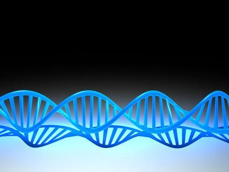 Conceptual chemistry scene - DNA structure - 3d render
