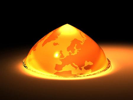 globalwarming: Earth globe melting - global warming concept - 3d render