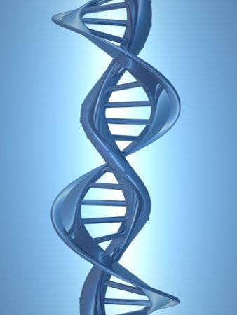 Conceptual chemistry scene - DNA structure - 3d render  photo