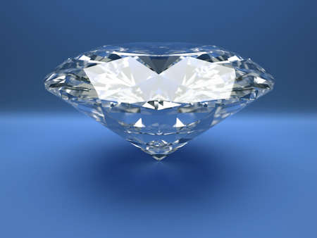 caustic: Close up illustration of diamond - rendered in 3d