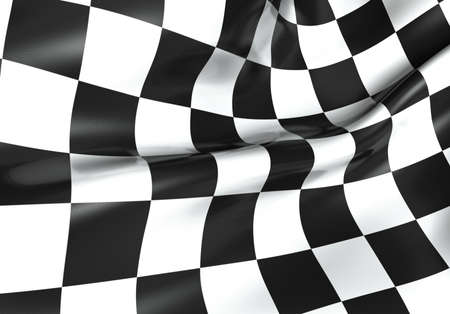 Texture of racing checkered flag - 3d render photo