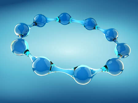 Conceptual structure of molecule -3d render Stock Photo - 5862907