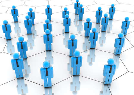 congregation: Illustration of icon people arranged in a network