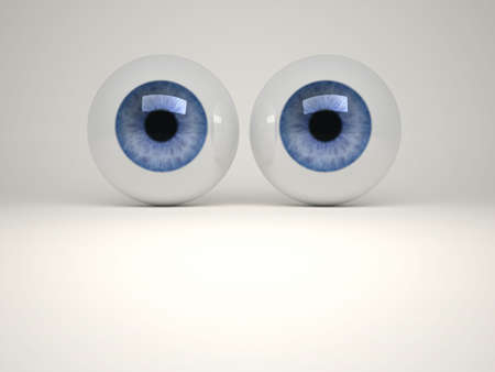 supervisory: Digitally generated image of human eyes - 3d render