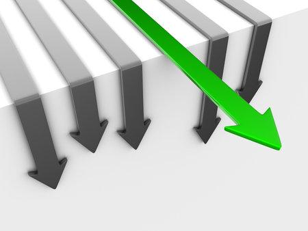 唯一の緑の矢印は、勝者、信頼できます。