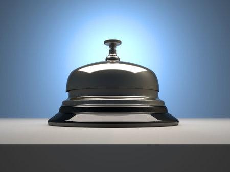 Close-up van beltonen receptie bell - 3d render