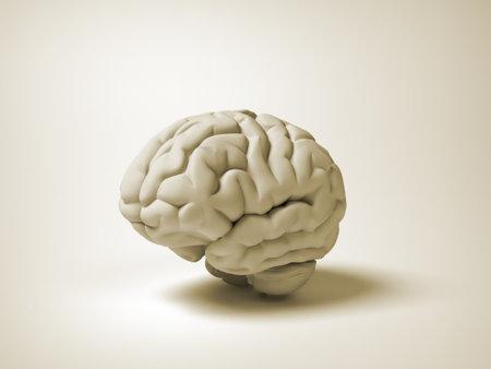 Illustration de rendu 3d conceptuelle du cerveau humain