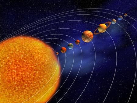 Syst�me solaire - ceci est une illustration rendu 3d Banque d'images
