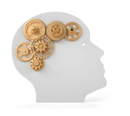Intelligence concept - this is a 3d render illustration  illustration