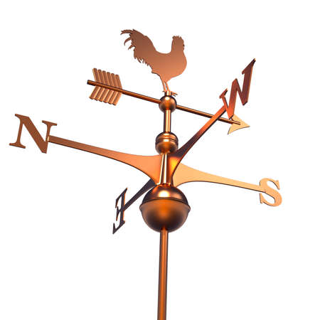 air wind: Weather Vane isolated over white - 3d render