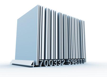 inventario: Bar c�digo - esto es una ilustraci�n de procesamiento 3d
