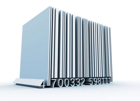 inventories: Bar code - this is a 3d render illustration Stock Photo