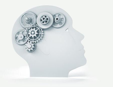 kopf: Intelligence Konzept - dies ist ein 3D-Render Illustration