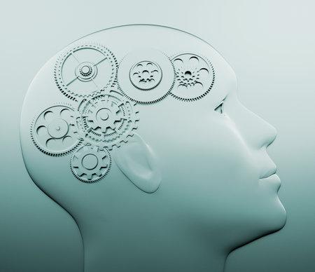 Intelligente concept - this is a 3d render illustration Stock Illustration - 8628554