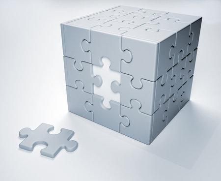 zuletzt: Jigsaw puzzle - dies ist ein 3d Render-Abbildung Lizenzfreie Bilder