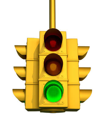 onward: Traffic light - this is a 3d render illustration Stock Photo