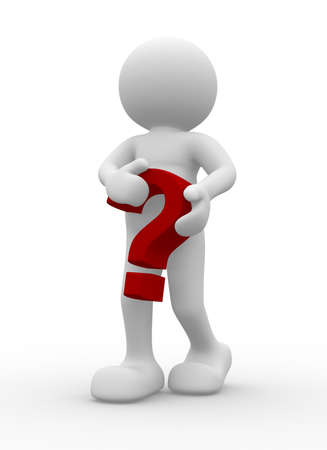 3d person character with a question mark Stock Photo - 9034425