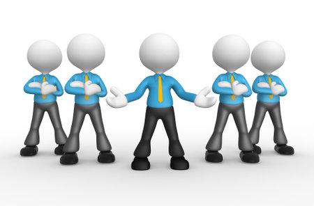 follow the leader: 3d mensen - mannen, persoon samen. Zakenlieden. Welkom Stockfoto