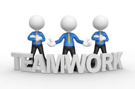 3d people - men, person with word ' teamwork '. Businessman photo