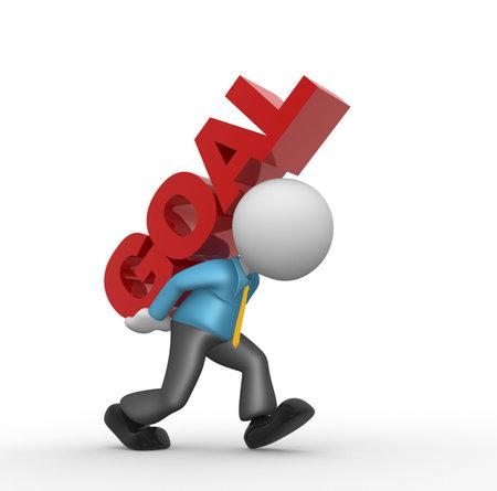 """competencias laborales: Gente 3d - hombre, persona y la palabra """"objetivo"""". El concepto de éxito"""