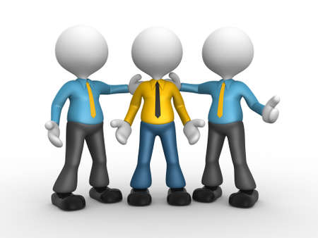 hes: 3d people - man, person with tie - Hes the man . Businessman Stock Photo