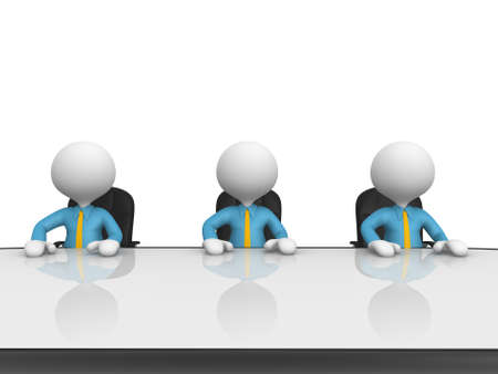 3d people - men, person at conference table. Meeting.  Stock Photo - 18528536