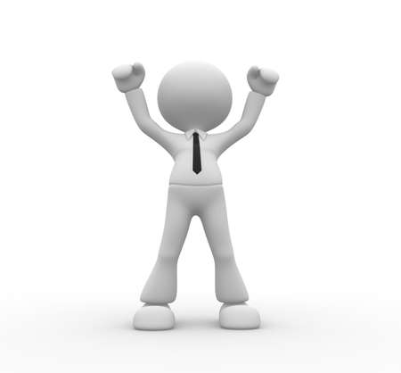 3d people - man, person happy for the success Stock Photo - 18528566