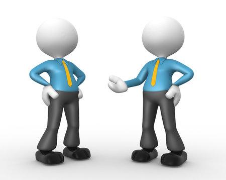 unsatisfied: 3d people - men, person talking